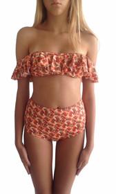 Verde Off Shoulder Bikini Set