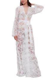 Long Lace Bridal Robe D4