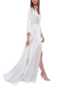 Long Silk Bridal Robe F28
