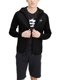 Multi Quilted Hooded Zip Jacket