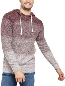 Monk Knit Hooded Gradient Pullover