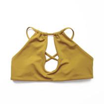 Lahaina Bikini Top in Mustard