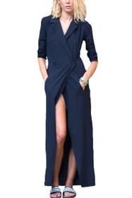 Rule The World Wrap Maxi Dress