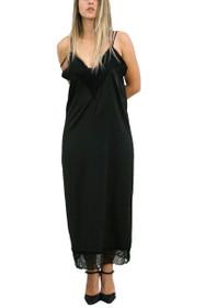Billow Silk Bareback Maxi Dress