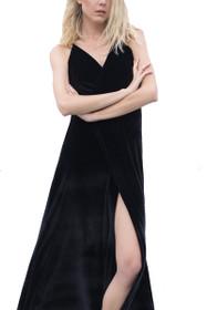 Ready For The Drama Backless Velvet Maxi Dress