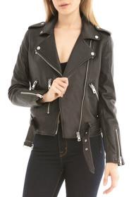 Washed Leather Biker Jacket