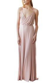 Blushing Wrap Maxi Dress in Pink