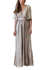 Harlow Metallic Dress in Gold