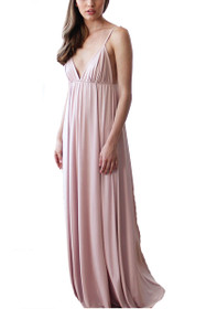 Darling Lace V-neck Maxi Dress in Pink