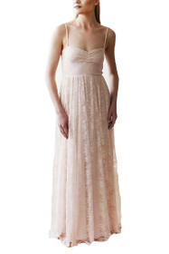 Sweetheart Lace Maxi Dress in Pink