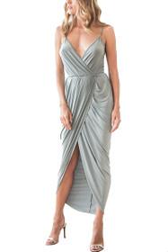 Tulip Midi Wrap Dress in Sage
