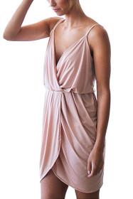 Tulip Mini Wrap Dress in Pink