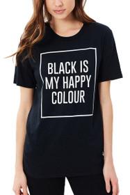 Black Is My Happy Colour Graphic Tee