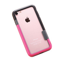 Combo iPhone 7Plus Frame Case in Black/Pink