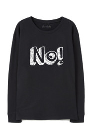 No! Graphic Crewneck Sweatshirt