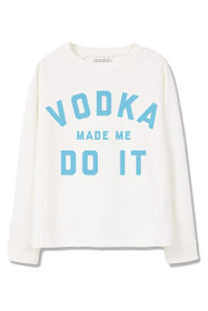 Vodka Make Me Do It Graphic Crewneck Sweatshirt