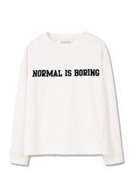 Normal Is Boring Graphic Crewneck Sweatshirt