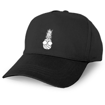 Pineapple Baseball Cap in Black