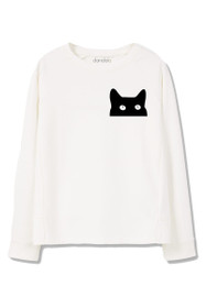 Cat Graphic Crewneck Sweatshirt