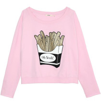 Fries Graphic Crewneck Sweatshirt