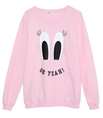 Pink Eyes Oversized Sweatshirt
