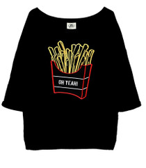 Neon Fries Oversized 3/4 Tee