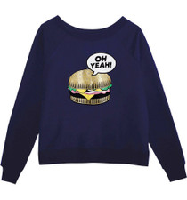 Burger Oversized Crew Neck Sweatshirt