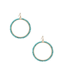 Great Outdoors Beaded Earrings in Turquoise