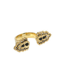 Bella Epoch Ring in Black and Antique Gold
