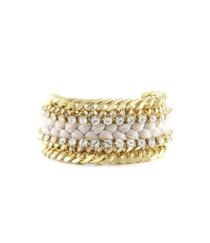 Dazzler Bracelet in Beige with Rhinestones