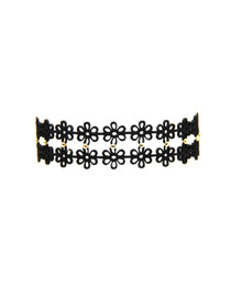 Donna Choker in Black and Gold