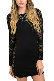 Emilie Long Sleeve Lace Dress