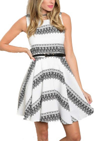 Cherie Printed Bell Dress