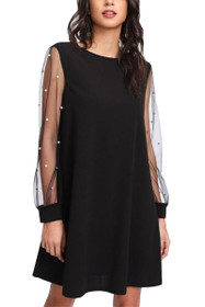 Lucy Pearl Embellished Shift Dress