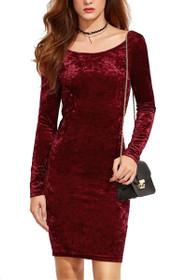 Tiffany Long Sleeve Velvet Dress