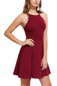 Joelle Scallop Trim Bell Dress