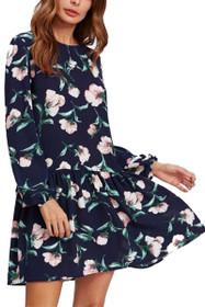 Flora Drop Waist Shift Dress