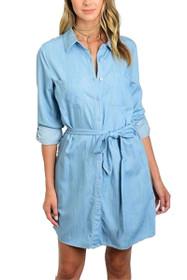 Janie Chambray Shirt Dress