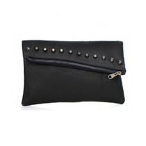 Demi Studded Zip Clutch