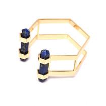Lapis Lazuli Hexagon Cuff Bracelet