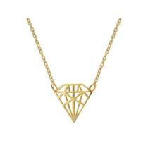 Queen of Diamonds Pendant Necklace in Gold