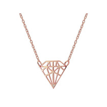 Queen of Diamonds Pendant Necklace in Rose Gold