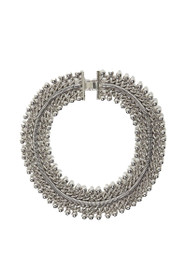 Freesia Statement Collar Necklace in Silver