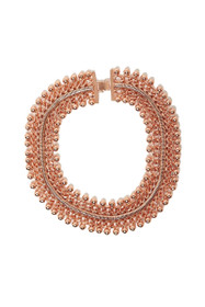 Freesia Statement Collar Necklace in Rose Gold