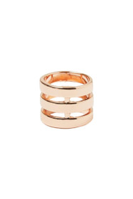 Three Line Ring in Rose Gold