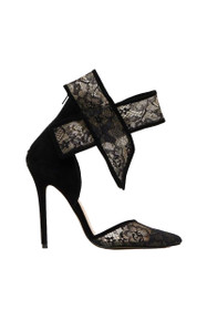 Shiralee Lace Ankle Bow Heel