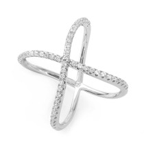 Factor X Crystal Ring in Silver
