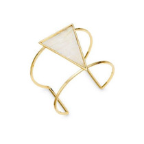 Opal Shell Triangle Cuff Bracelet