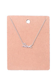 Dainty Love Script Pendant Necklace