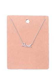 Dainty Love Script Pendant Necklace